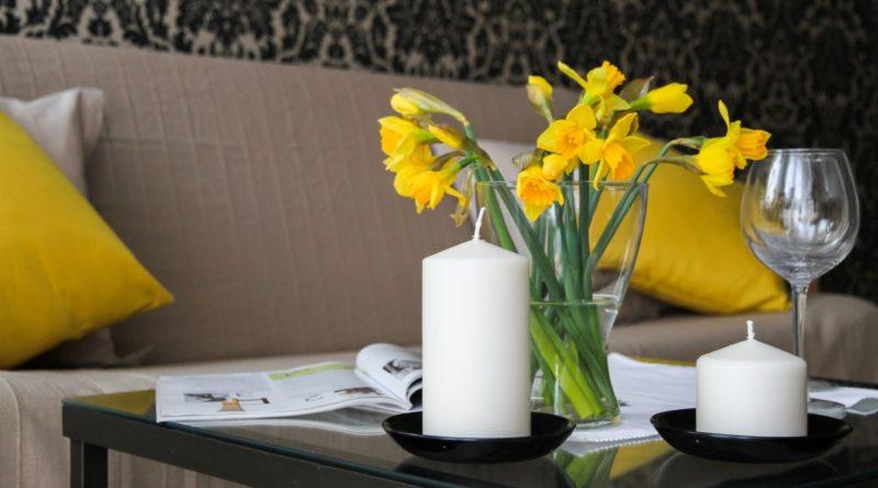 décoration florale dans une maison