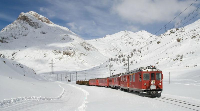 Paysage lors d'un voyage en train