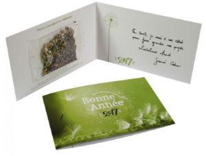 carte de vœux avec graines