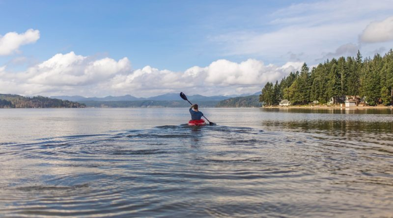kayakiste débutant