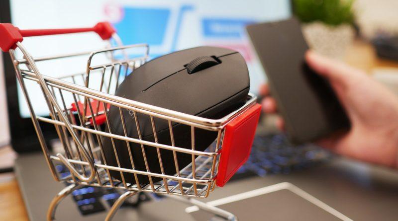 panier d achat souris web internet e commerce vente