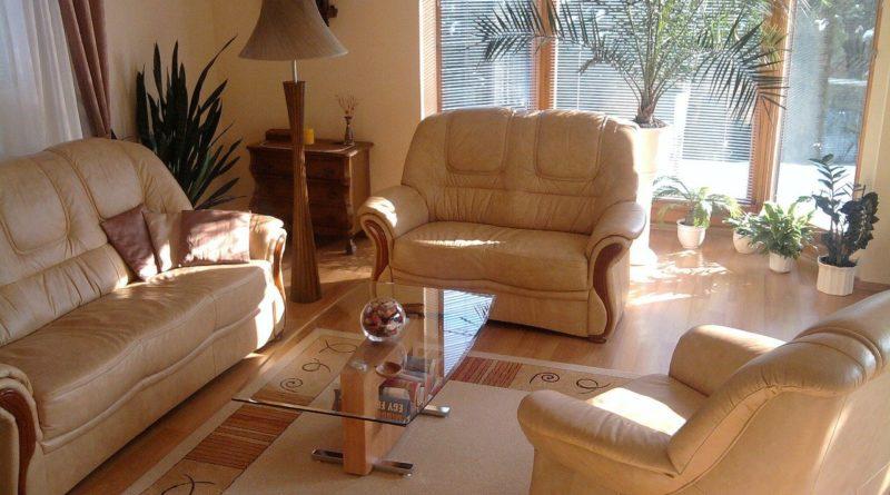 Une décoration de salon pour l'été dans une maison neuve