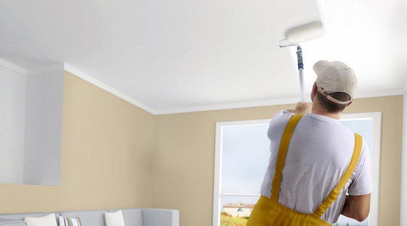 peinture du plafond