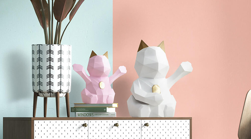 Statuettes Chat Origami