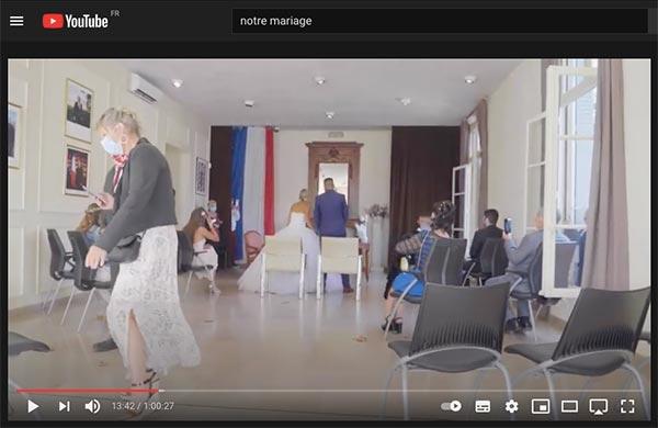 partage vidéo mariage YouTube
